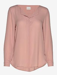 VILUCY L/S SHIRT - NOOS - long sleeved blouses - pale mauve