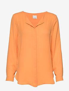 VILUCY L/S SHIRT - FAV - long sleeved blouses - apricot