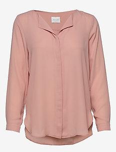 VILUCY L/S SHIRT - FAV - long sleeved blouses - misty rose