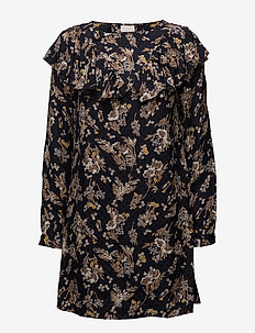 VIBETH L/S SLEEVE DRESS - short dresses - total eclipse