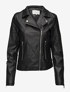 VICARA COATED JACKET/SU - NOOS - leather jackets - black