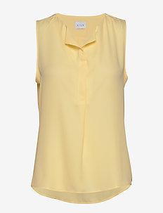 VILUCY S/L TOP - FAV - topy bez rękawów - mellow yellow