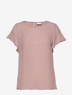 VILUCY FLOUNCE S/S TOP - NOOS - t-shirts basiques - pale mauve