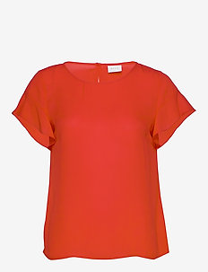 VILUCY S/S FLOUNCE TOP - FAV - t-shirts - flame scarlet