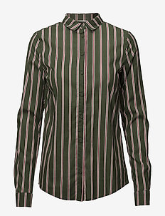 VIKAILEY L/S SHIRT - long sleeved blouses - chive