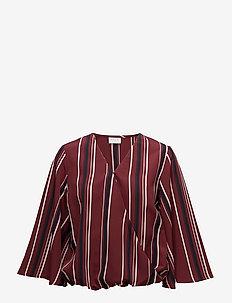 VISESILLA 3/4 TOP /RX - long sleeved blouses - cabernet