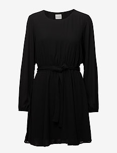 VILUCY L/S DRESS-NOOS - korte kjoler - black