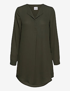 VILUCY L/S TUNIC -FAV - blouses med lange mouwen - forest night