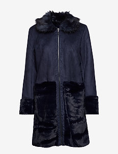 VILONIA FAUX SHERLING JACKET - fuskpäls - total eclipse