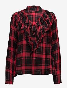 VIGRANCA L/S TOP/RX - long sleeved blouses - black