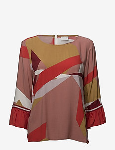 VIAMI S/S TOP /RX - long sleeved blouses - ash rose