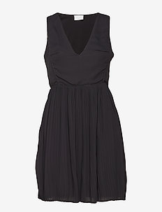 VILILLA S/L DRESS - midi kjoler - black
