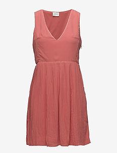 VILILLA S/L DRESS - midi dresses - spiced coral