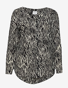 VILUCY L/S SHIRT - FAV LUX - long sleeved blouses - cloud dancer