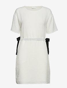 VILAMIDA 2/4 DRESS - short dresses - snow white