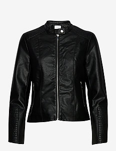 VIBLUE NEW COATED JACKET/SU-NOOS - leather jackets - black