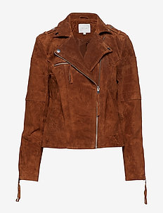 VICRIS SUEDE JACKET/SU - NOOS - lederjacken - oak brown