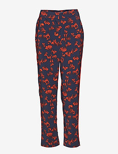 VINAHLA FANLY RW 7/8 PANT - wide leg trousers - navy blazer