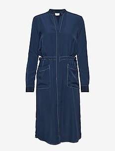 VISINEL L/S SHIRT DRESS - shirt dresses - navy blazer