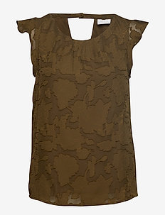 VIBALIA S/L TOP - DARK OLIVE
