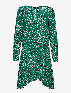 VIATTA PARDAS L/S DRESS - korte kjoler - pepper green