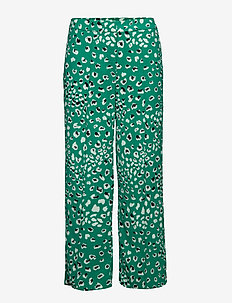 VILAMI PARDAS RW CROPPED PANT - wide leg trousers - pepper green
