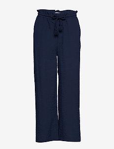 VILINEA 7/8 PANTS - wide leg trousers - navy blazer