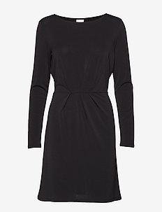 VICLASSY L/S DETAIL DRESS - NOOS - short dresses - black