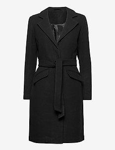 VIVICKI WOOL COAT/SU- NOOS - wool coats - black