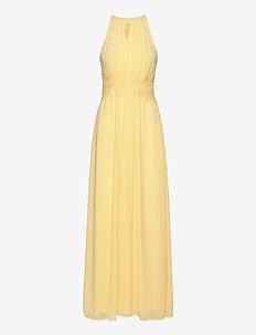 VIMILINA HALTERNECK MAXI DRESS/SU - FAV - maxi dresses - mellow yellow