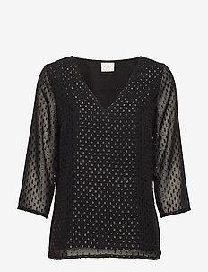 VIHENRI 3/4 TOP C3 - long sleeved blouses - black
