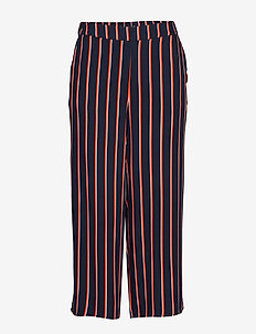 VISEZU TRACKIE PANTS/L - wide leg trousers - navy blazer