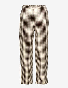 VIMINOLA 7/8 PANTS/RX - wide leg trousers - toffee