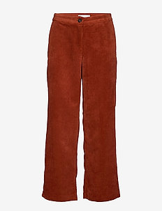 VIEMILY RW 7/8 PANT - wide leg trousers - ketchup