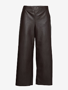 VIPEN RW CROPPED WIDE PANTS - PUCE