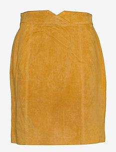 VIMUSA HW SUEDE SKIRT - GOLDEN ROD