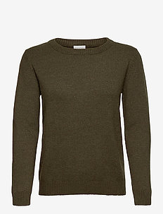 VIRIL O-NECK L/S  KNIT TOP - NOOS - jumpers - forest night