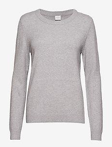 VIRIL O-NECK L/S  KNIT TOP - NOOS - jumpers - light grey melange