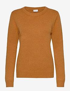 VIRIL O-NECK L/S  KNIT TOP - NOOS - tröjor - pumpkin spice