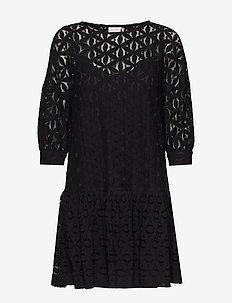 VIPRUA 3/4 DRESS - midi dresses - black