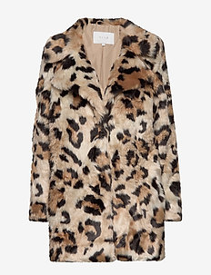 VIMONDANA FAUX FUR COAT - SOFT CAMEL