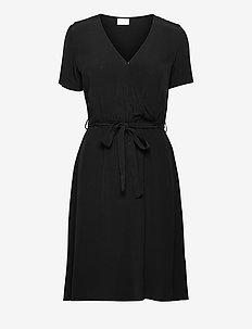 VIPRIMERA WRAP S/S DRESS - alledaagse jurken - black