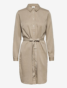 VIBISTA DENIM BELT DRESS/SU - NOOS - blousejurken - simply taupe