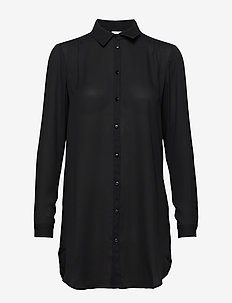 VILUCY BUTTON  L/S TUNIC - NOOS - tunieken - black