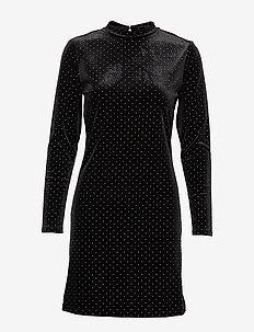 VIFARICA L/S DRESS/KI - BLACK