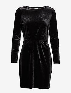 VIMINNY VELVET L/S DETAIL DRESS - FAV NX - BLACK