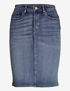 VICOMMIT FELICIA SHORT SKIRT LB - jeanskjolar - light blue denim
