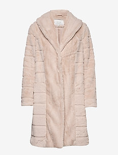VICRYSTAL FAUX FUR JACKET/AS - namaak bont - sandshell