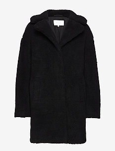 VIPLYS TEDDY COAT/AS - BLACK