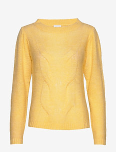 VIPOLANA KNIT L/S TOP/SU - jumpers - mellow yellow